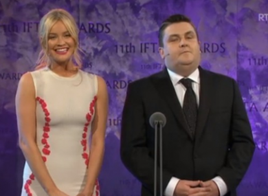 Laura Whitmore and Simon Delaney hosting last year's ceremony.