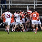 It didn't take long for Armagh and Tyrone to renew their fiery rivalry.<span class=