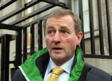The Taoiseach on his way into Government Buildings. He walks to work most mornings.