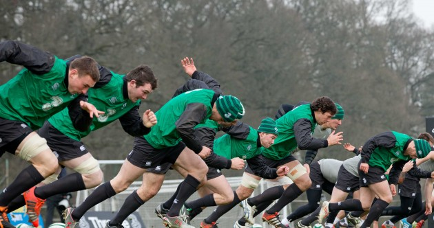 In pics: Ireland warm up for Italy after waiting out the early frost