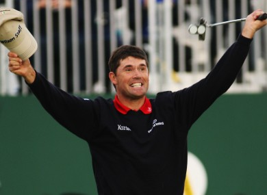 Padraig Harrington won the first of his majors at Carnoustie in 2007.