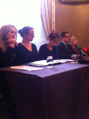 The press conference today about the bill.