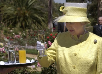 There may be benefits for Queen Elizabeth in that glass of bubbles - because of her age.