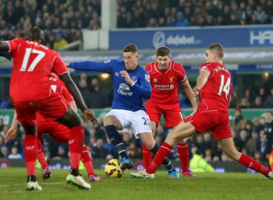 Liverpool couldn't breach the Everton defence.
