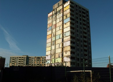 The decaying Ballymun flats in 2005