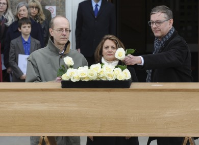 Richard III's nephew 16 times removed Michael Ibsen, left, and his brother Jeff Ibsen and niece 18 times removed Wendy Duldig.