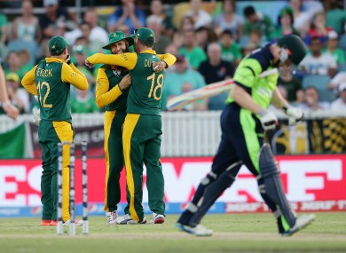 There wasn't too much to smile about in Canberra as Ireland tasted defeat