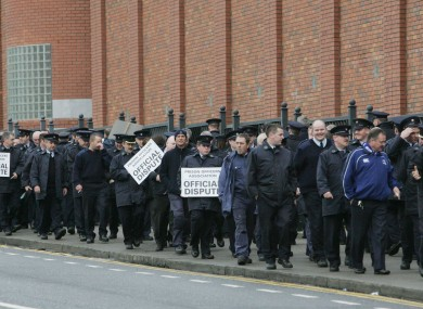 Members of the POA on a picket in 2009.
