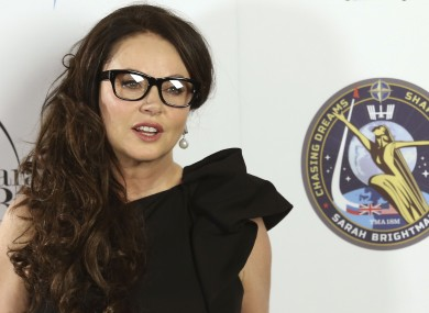 Sarah Brightman will leave for the space station in September.