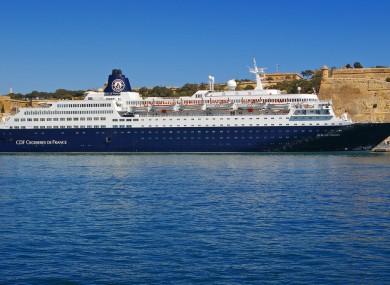 The man was on board 'Croisières de France' Horizon cruise ship.