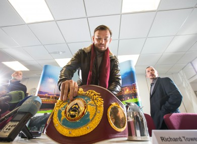 Lee: hoping to retain his belt and set up a meeting with Billy Joe Saunders.