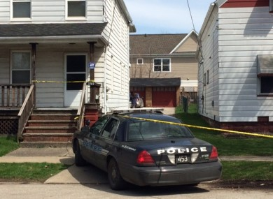 The scene after the shooting in which the baby was killed.