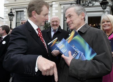 Taoiseach Enda Kenny and Jobs Minister Richard Bruton