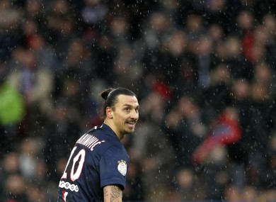 Canal Plus pictures showed Swedish star Ibrahimovic in an expletive-laden rant against referees and France.