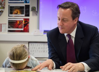 David Cameron has trouble convincing one future voter...