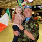 Pte. Brian McCabe from Navan and his two-year-old daughter Emily.<span class=