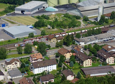 Würenlingen railway station in Switzerland.