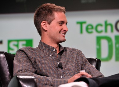 Spiegel at the TechCrunch Disrupt Conference in 2013.