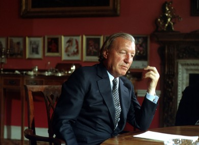 Former taoiseach Charlie Haughey at Abbeville in 1982