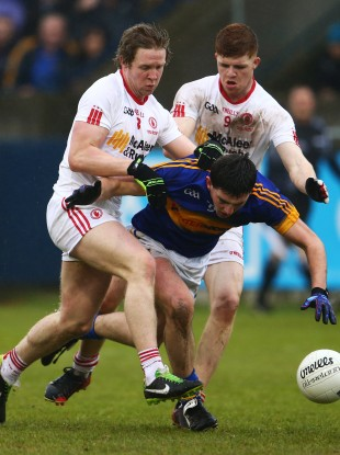 Tipperary's Colin O'Riordan and Tyrone's Cathal McShane (9) are two rising young stars to watch out for this summer