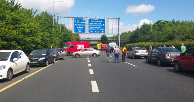 M11 reopens after serious crash causes hours of gridlock