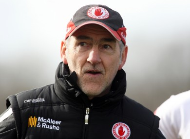 Mickey Harte has a major job on his hands as Tyrone aim to re-emerge as a championship force