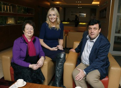 Mary O'Rourke and Brian Lenihan with RTÉ's Miriam O'Callaghan.