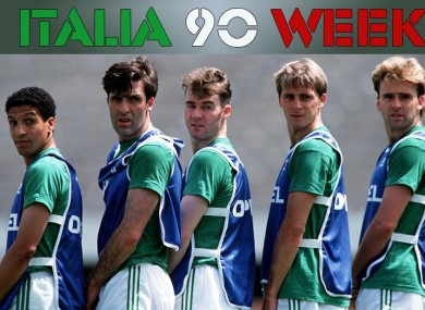 Some of the forgotten men from Italia 90.