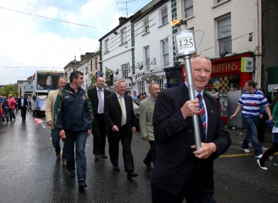 Jimmy Doyle at the torch parade to Semple Stadium for the GAA's 125th anniversary celebrations in 2009.