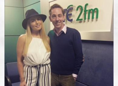 Louise O'Reilly with Ryan Tubridy.