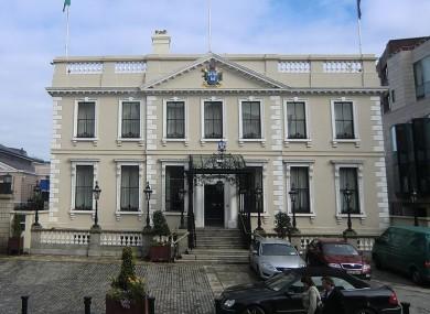 The Mansion House on Dawson Street in Dublin city centre