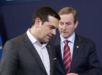 Alexis Tsipras with Enda Kenny (File photo)