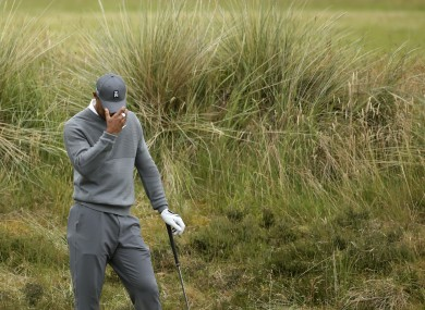 Tiger Woods endured another poor day on the golf course yesterday.