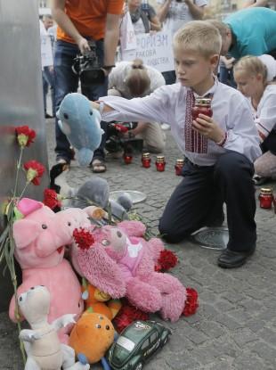 A memorial service in Ukraine