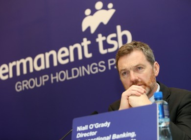 Niall O'Grady, director of transactional banking, at briefing last week.