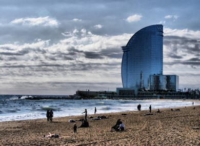 The Barcelona beach front