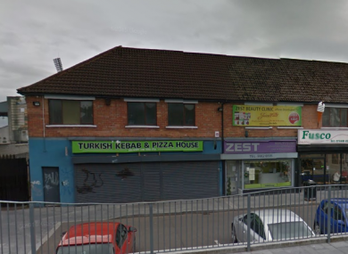 The kebab shop where the girl was injured.