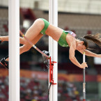 Ireland's Tori Pena in action during the pole vault at the World Athletics Championships.