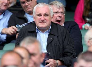 Bertie Ahern doing one of his favourite things