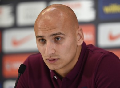 England's Jonjo Shelvey during a press conference at St George's Park.