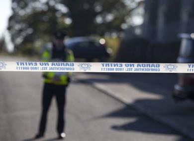 The scene at the Mullach Alainn Estate where Garda Tony Golden was shot.