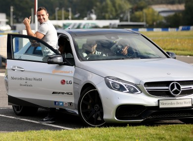 Thumbs up from Dave Kearney at Mercedes-Benz World today in Surrey.