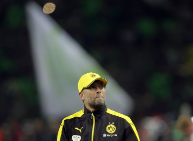 Former Borussia Dortmund coach Klopp is favourite to take over at Liverpool.