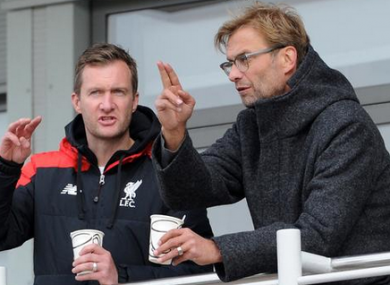 Klopp watched the club's U18s in action at the weekend.