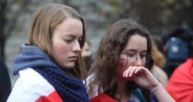 Tears and tricolours as Irish and French stand together in solidarity