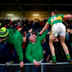 Aldo Matassa of Clonmel Commercials can't wait to join the party after the Munster football final.<span class=