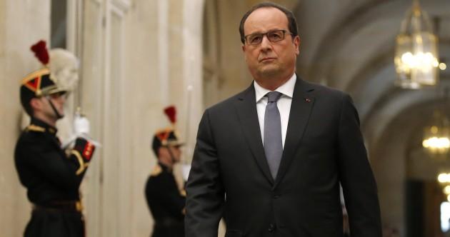 """""""France is at war"""" - Francois Hollande"""