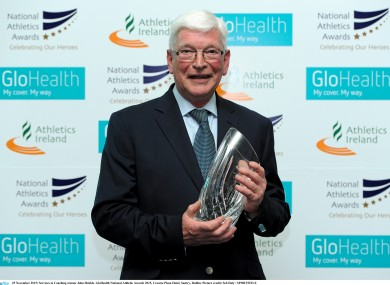 Shields won the Services to Coaching award at last week's GloHealth National Athletic Awards.