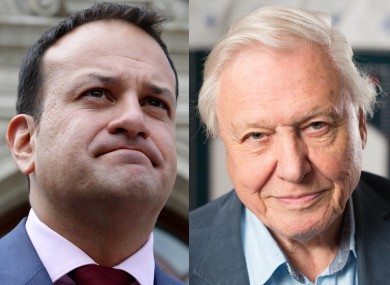 Leo Varadkar and David Attenborough