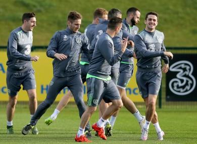 Ireland in training this week.